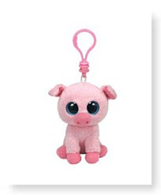 Corky The Pig Clip Pink