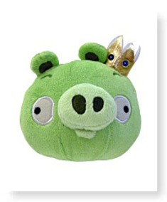 Plush 12INCH King Pig With Sound