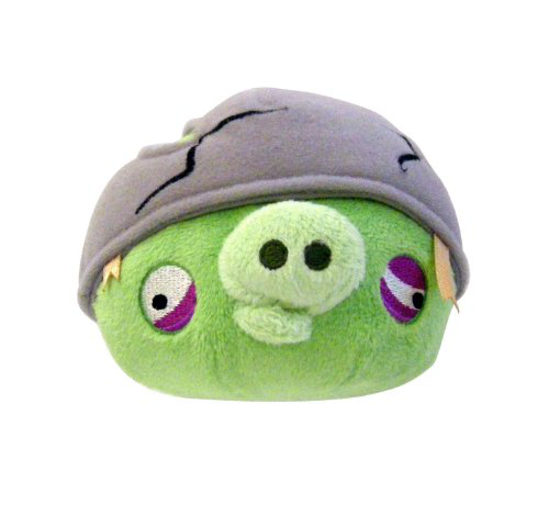 Angry Birds 8 Plush Helmet Pig With Sound